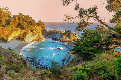 Julia Pfeiffer Burns State Park Mcway Falls Poster by Scott McGuire