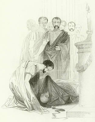 Julius Caesar, Act IIi, Scene I Poster by Joseph Kenny Meadows