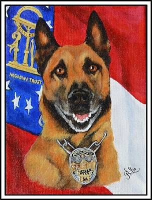 K9 Ayko Poster by D Phillis Cook