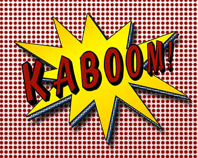 Kaboom Pop Art Poster by Suzanne Barber
