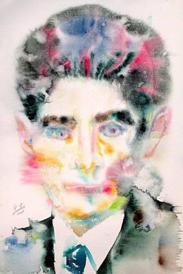 Kafka - Watercolor Portrait Poster by Fabrizio Cassetta