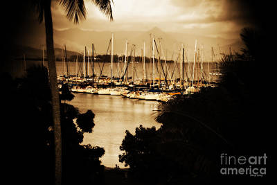 Kaneohe Bay Yacht Club Poster by Cheryl Young