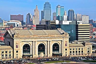 Kansas City Behind Union Station Poster by Frozen in Time Fine Art Photography