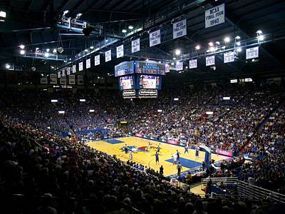 Kansas Jayhawks Allen Fieldhouse Poster by Replay Photos