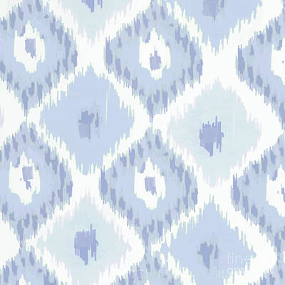 Kasbah Blue Ikat Poster by Mindy Sommers
