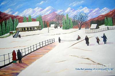Kashmir Poster by Usha Rai
