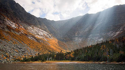 Katahdin And Chimney Pond Poster by Patrick Downey