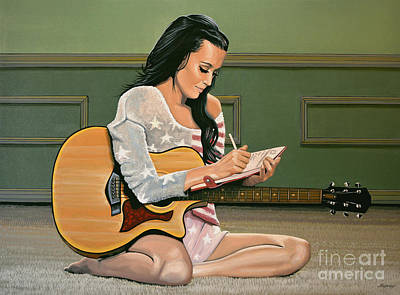 Katy Perry Painting Poster by Paul Meijering