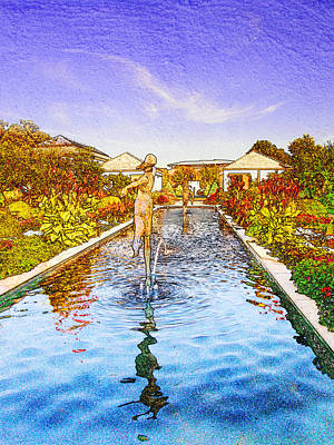 Kauffman Memorial Garden Reflections Rendering 16 Poster by Greg and Pat Rose WordPictures KCMO