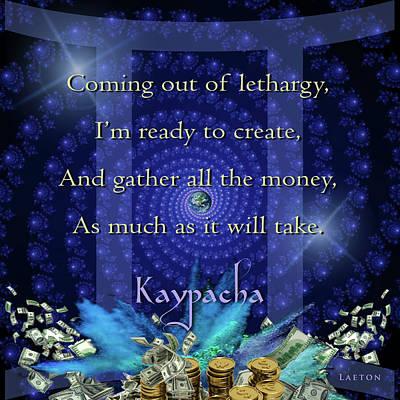 Kaypacha June 8, 2016 Poster by Richard Laeton