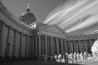 Kazan Cathedral. Saint-petersburg. Infrared Poster by Dmitry Soloviev