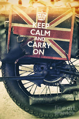Keep Calm And Carry On Poster by Tim Gainey