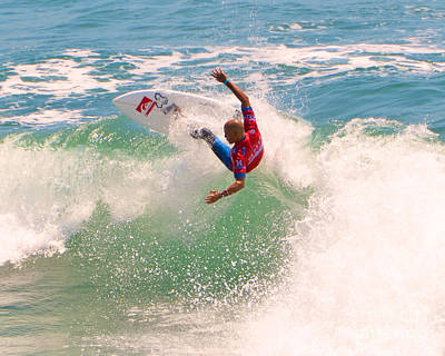 Kelly Slater  Us Open Of Surfing 2012     7 Poster by Jason Waugh