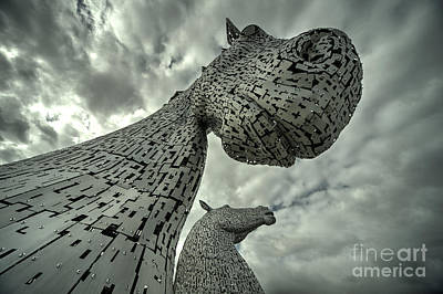 Kelpies  Poster by Rob Hawkins