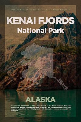 Kenai Fjords National Park In Alaska Travel Poster Series Of National Parks Number 35 Poster by Design Turnpike