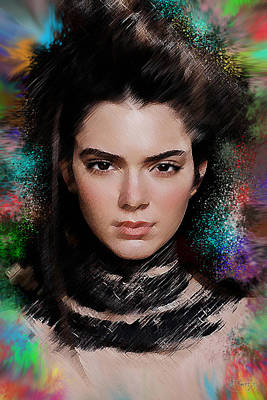 Kendall Jenner Poster by D Tower Jr