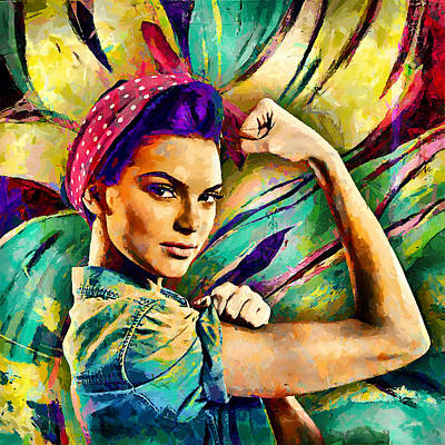 Kendall Jenner L2 Poster by Sampad Art