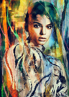 Kendall Jenner Poster by Sampad Art