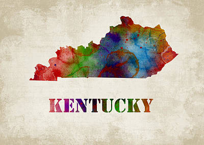 Kentucky Poster by Mihaela Pater