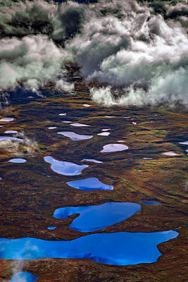 Kettle Ponds On The Tundra Poster by Rick Berk