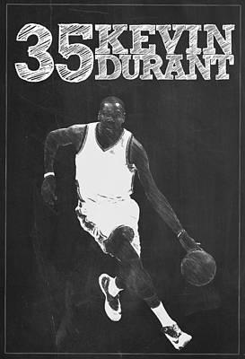 Kevin Durant Poster by Semih Yurdabak