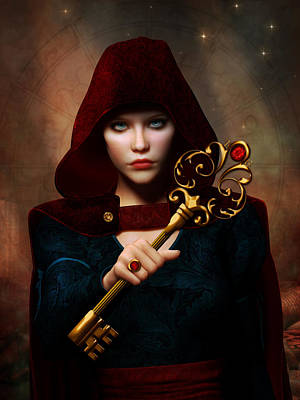 Key Of Wisdom Poster by Britta Glodde