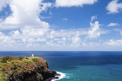 Kilauea Lighthouse Overlooking The Pacific Ocean In Kauai, Hawaii Poster by Bradley Hebdon