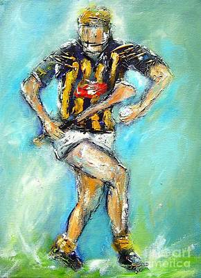 Kilkenny Hurling Star Poster by Mary Cahalan Lee- aka PIXI