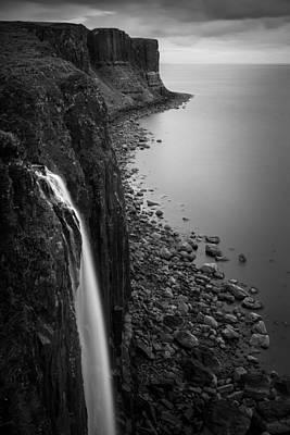 Kilt Rock Waterfall Poster by Dave Bowman