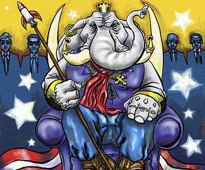 King George Poster by Baird Hoffmire