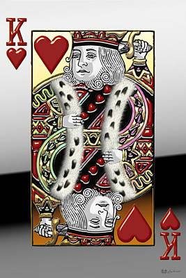 King Of Hearts   Poster by Serge Averbukh