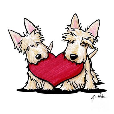 Kiniart Heartfelt Scotties Poster by Kim Niles