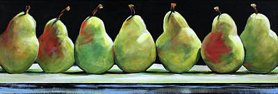 Kitchen Pears Poster by Toni Grote