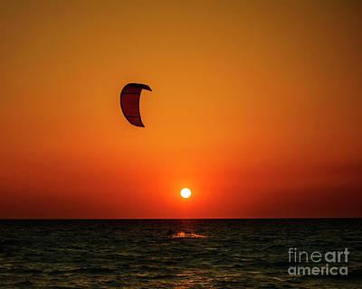 Kite Surfing Poster by Jelena Jovanovic