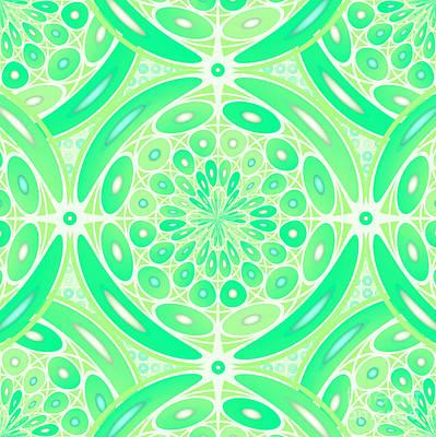 Kiwi Green Geometric Poster by Gaspar Avila