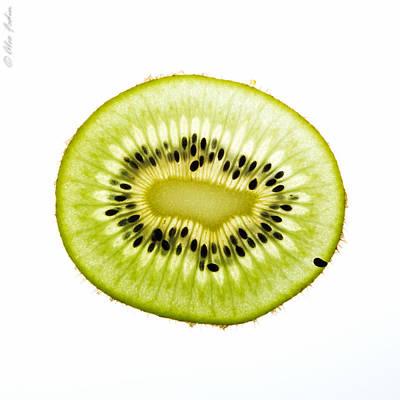 Kiwi Slice Poster by Alexander Fedin