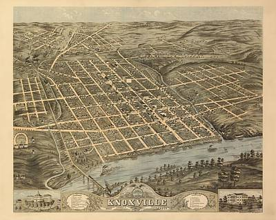 Knoxville Tennessee 1871 Poster by Mountain Dreams