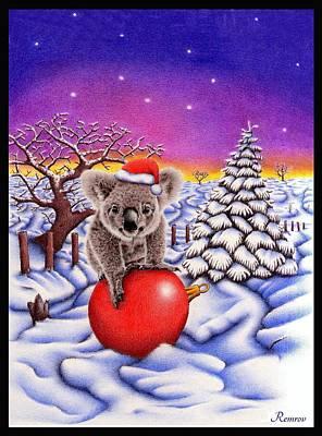 Koala On Ball Poster by Remrov