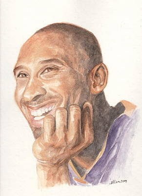 Kobe Bryant Poster by Ellen Bernales