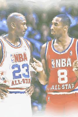 Kobe Bryant Michael Jordan Poster by Joe Hamilton