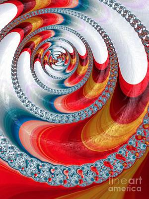 Koi Spiral Poster by John Edwards