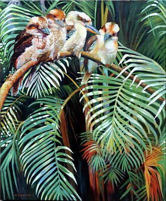 Kookaburra Perch Poster by Kelly McNeil