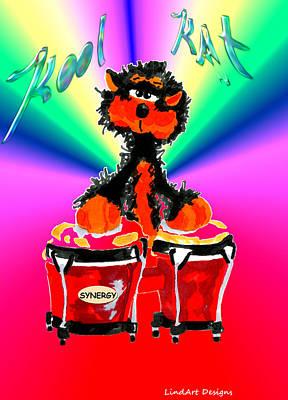 Kool Kat Poster by Linda Lindall