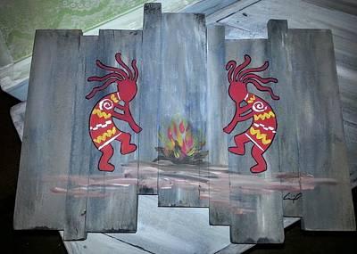 Kopeli Fire Dance Poster by Cecil Grubbs