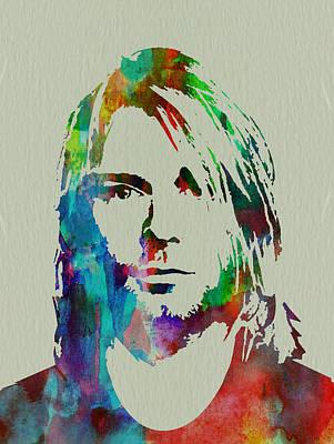 Kurt Cobain Nirvana Poster by Naxart Studio