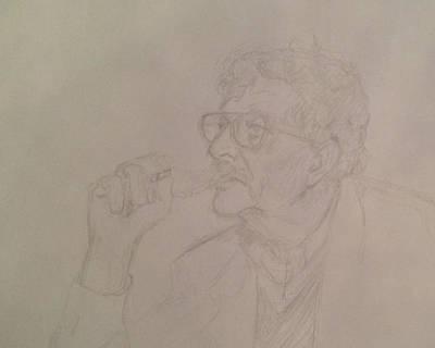 Kurt Vonnegut Poster by John Bichler