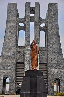 Kwame Nkrumah Statue And Mausoleum Poster by Terry Pridemore