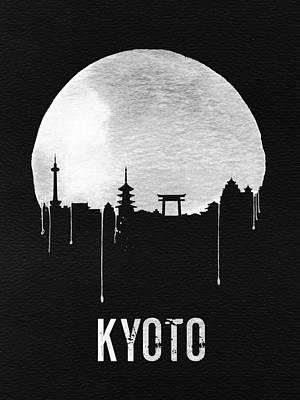 Kyoto Skyline Red Poster by Naxart Studio