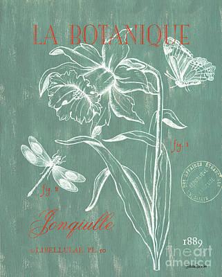 La Botanique Aqua Poster by Debbie DeWitt
