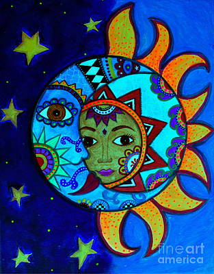 La Luna,el Sol Poster by Pristine Cartera Turkus